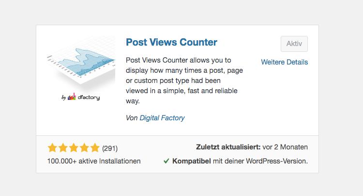 WordPress Ratgeber: Post Views Counter Plugin